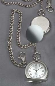 Pocket Watch - Satin finish pocket watch on chain