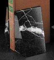 Marble bookends BBR10H - Genuine Marble designer bookends, engraving optional.